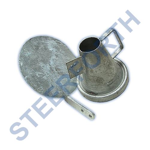 PART346 - FEMALE CONIC FAN JET + O'RING + PLATE GALVANISED