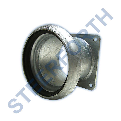 PART349 - FEMALE COUPLING WITH 4 BOLT FLANGE GALVANISED