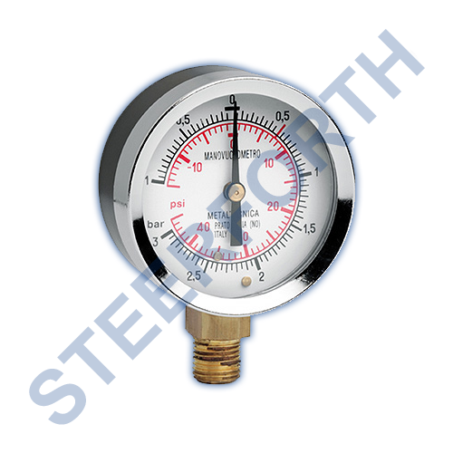 BSP (DRY) VACUUM PRESSURE GAUGE (-1 TO +3 BAR)